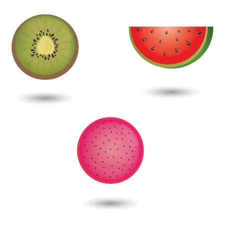 fruit slice Stock Vector - 106670026