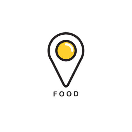 Illustration of food navigation point in egg design icon. Imagens - 81538435