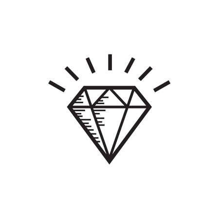 Outline illustration of diamond. Ilustração