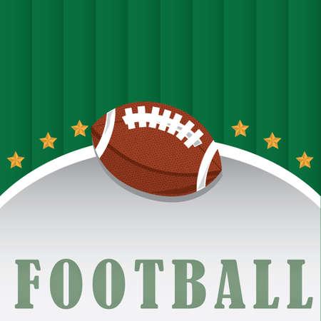 american football design Иллюстрация