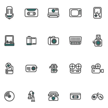A retro gadgets illustration.