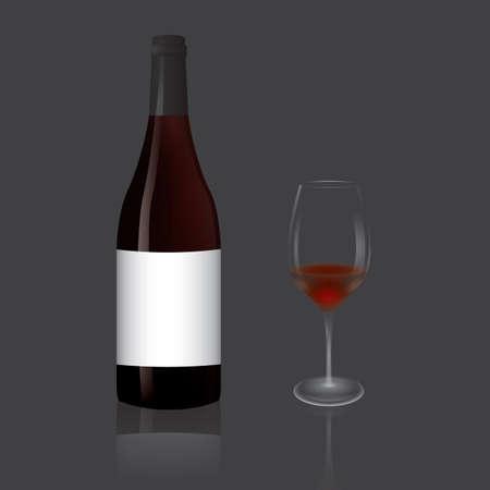 ワイングラスボトル付き