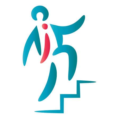 Icône de l'homme abstrait Banque d'images - 81469731