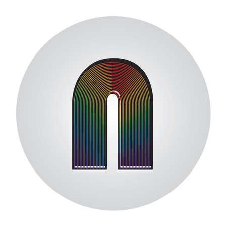 alphabet n Ilustração