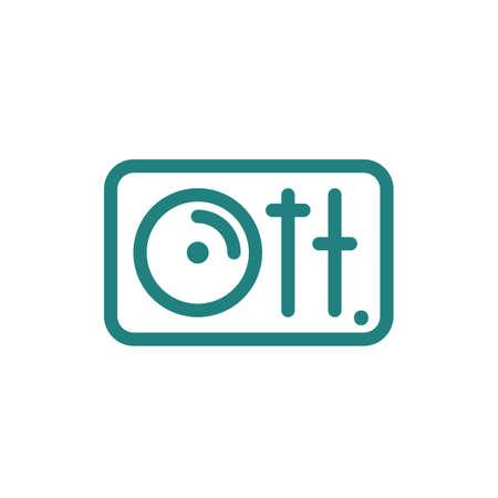 ディスク ジョッキー ターン テーブル アイコン  イラスト・ベクター素材