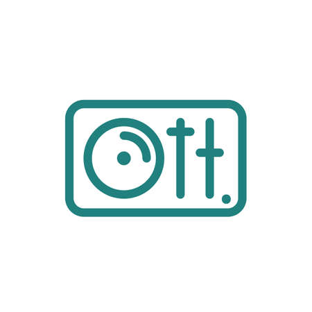 Disk jockey turntable icon