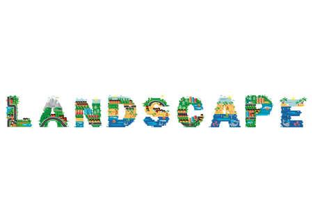 A landscape design illustration.