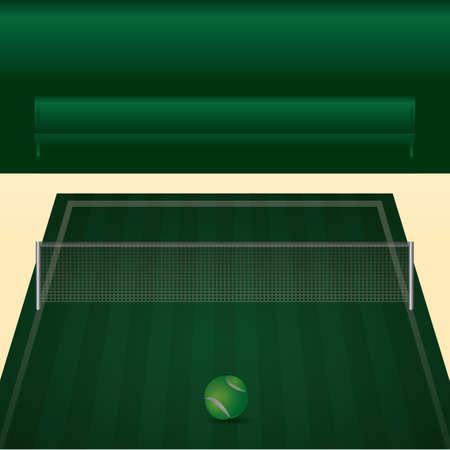 테니스 코트 그림입니다.