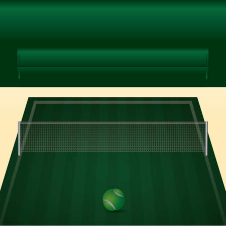 A tennis court illustration. Illustration