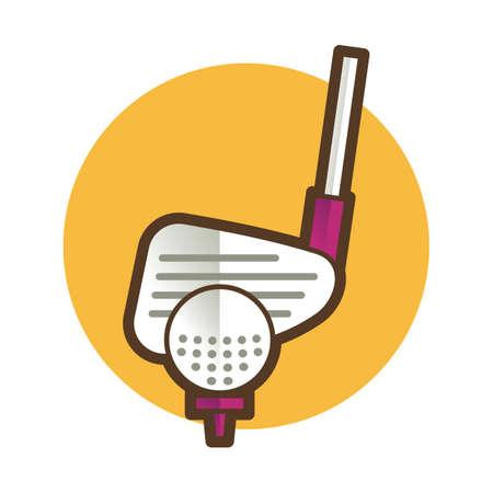golf ball and stick