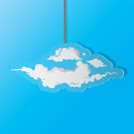 Una ilustración de la nube. Foto de archivo - 81469974