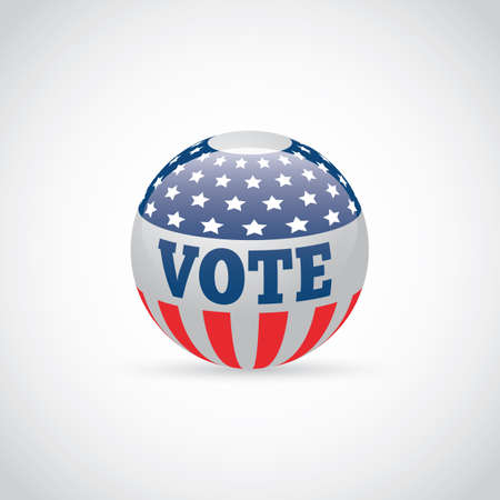 Illustration de badge USA vote. Banque d'images - 81469976