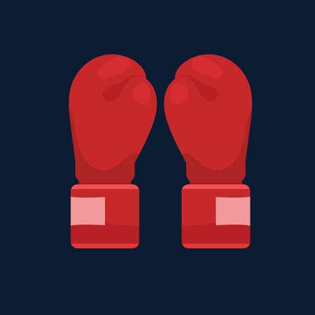 ボクシング グローブ  イラスト・ベクター素材