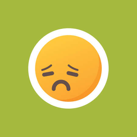 Emoticon with sad face Ilustracja