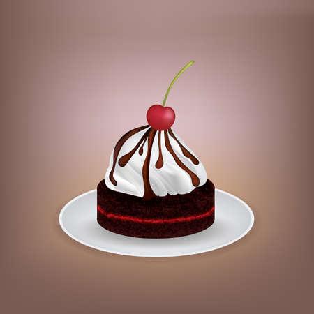 Cake met kersen-topping