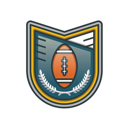 American football label illustration.