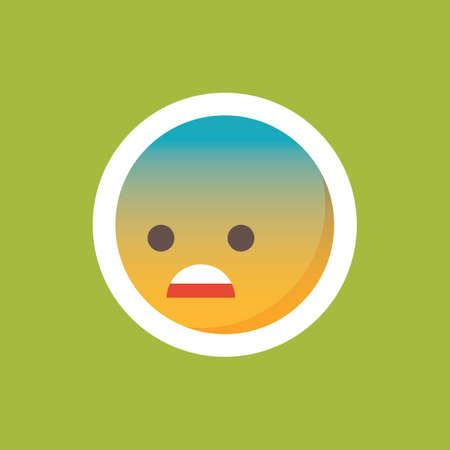 gefrustreerde emoticon Stock Illustratie