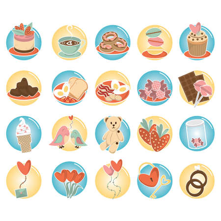set of love icons Illustration