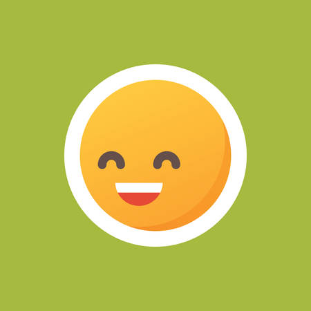 笑う顔文字のイラスト素材 ベクタ Image