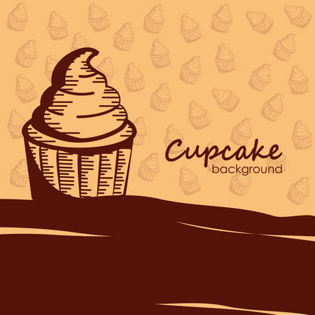 cupcake background Banco de Imagens - 81486252