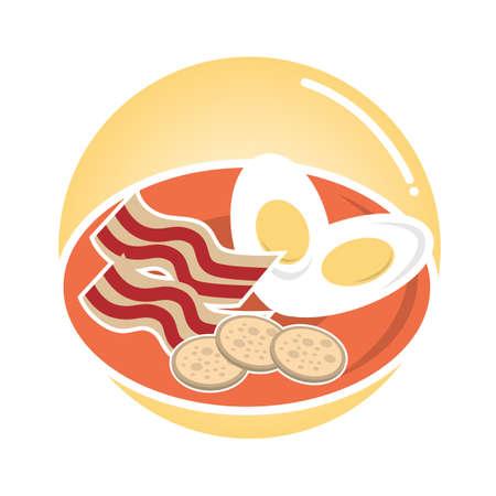 breakfast food Ilustração