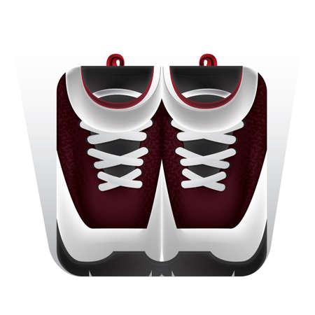 スポーツ靴イラスト。  イラスト・ベクター素材