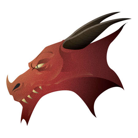 A fantasy dragon head. Çizim