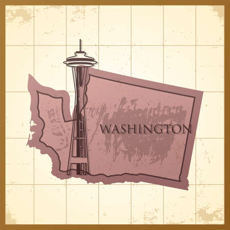A map of Washington state.