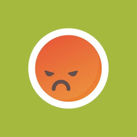 Angry emoticon Иллюстрация