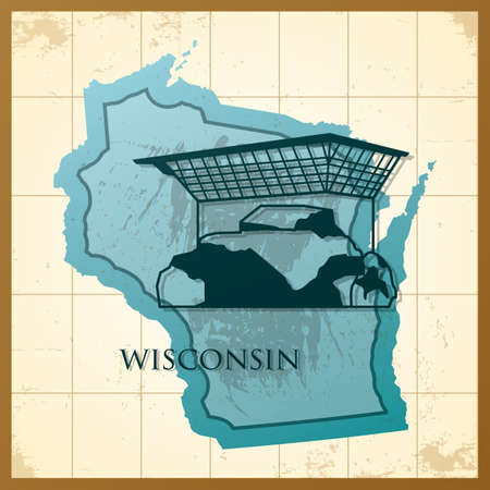 map of wisconsin state