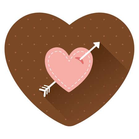 心臓を矢  イラスト・ベクター素材