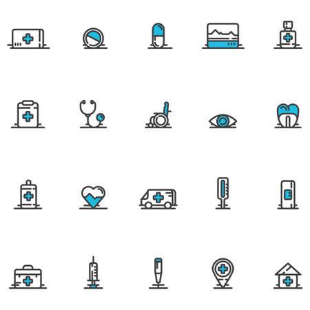 doctor icons Ilustração