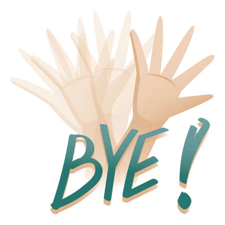 hand showing bye gesture