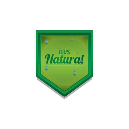 natural label Reklamní fotografie - 106670110