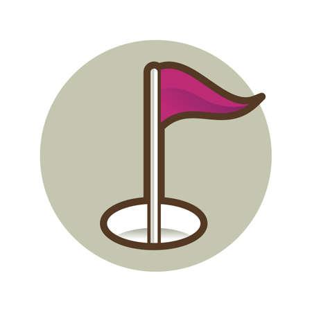 golf hole Reklamní fotografie - 106670113