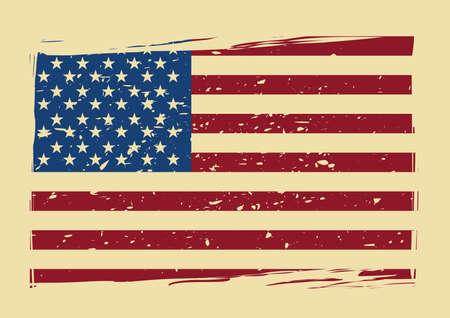 米国旗ポスター  イラスト・ベクター素材