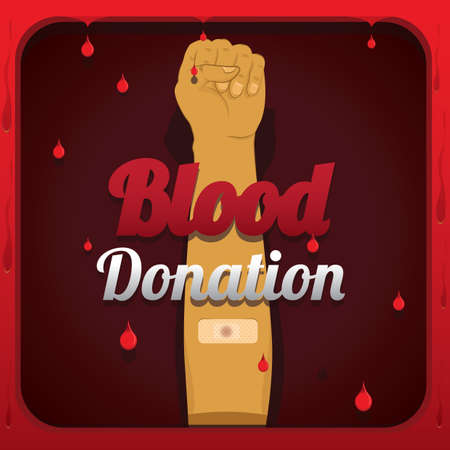 Blood donation Иллюстрация
