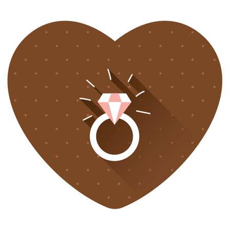 diamanten ring Stock Illustratie