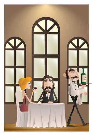 echtpaar in een restaurant