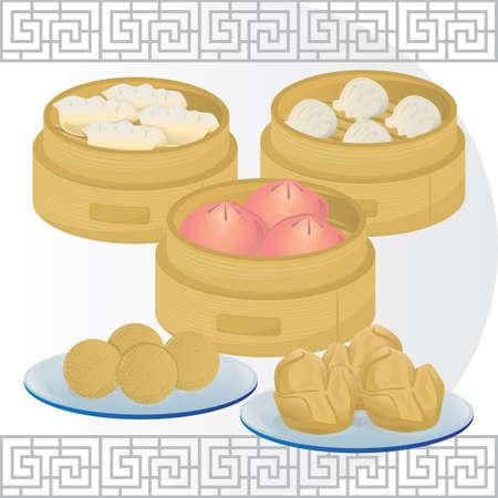 dim sum food set