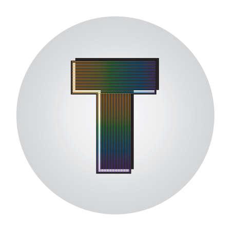 Alphabet t Banque d'images - 81486288