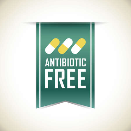antibiotic free banner Иллюстрация