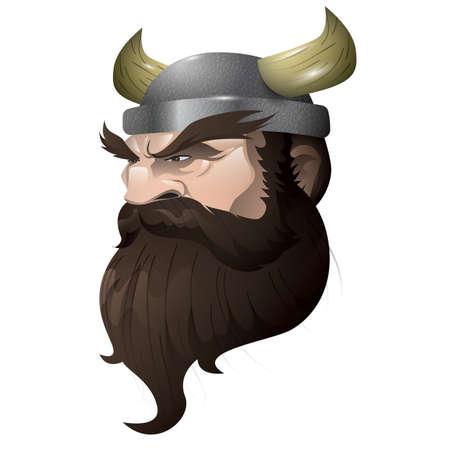 バイキング男の顔。