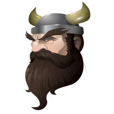 A face of viking man.