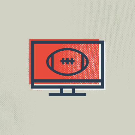 american football on lcd Banque d'images - 106670140