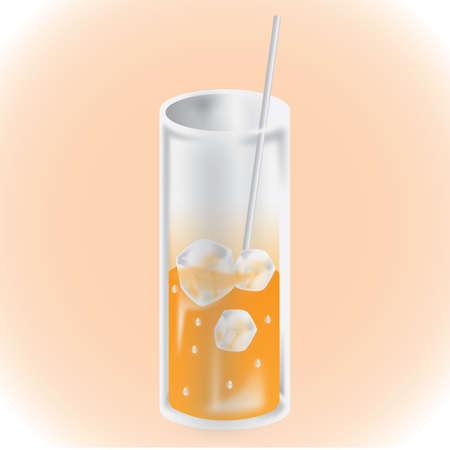 차가운 음료를 마시는 유리