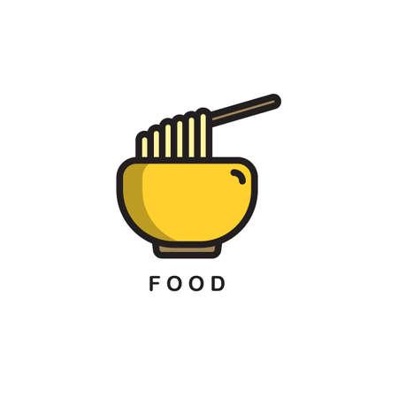 noodles bowl Ilustração