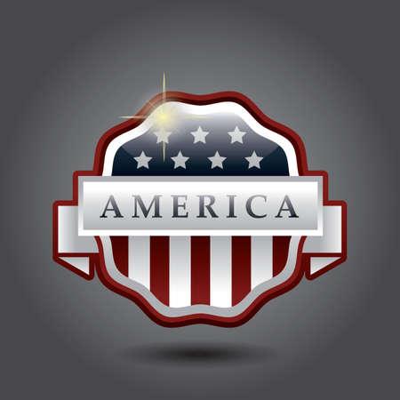 Bannière américaine Banque d'images - 81420072
