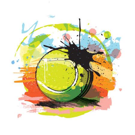 Illustrazione astratta di palla da tennis. Archivio Fotografico - 81470063