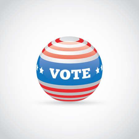 Illustration de badge USA vote. Banque d'images - 81470084